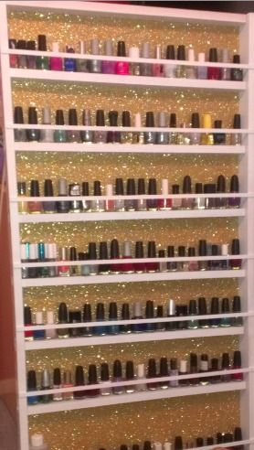 Nail Polish Rack, I need to Make one of these. I want my Honey to make it for me for christmas.. so bad,,,