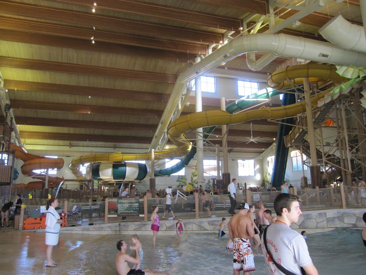 Water slides at Great Wolf Lodge in Grapevine, Texas