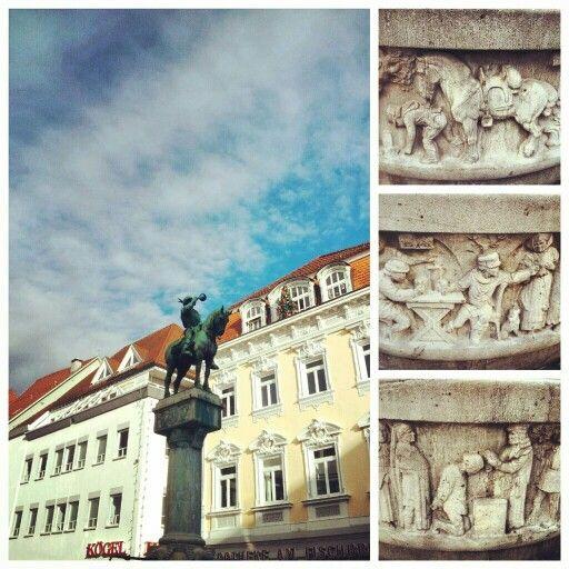 Postmichel fountain in Esslingen – Donald Kale