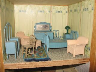 Tulsa Tiny Stuff: My Tootsietoy Collection Blue Bedroom. Find This Pin And  More On Tootsietoy Dolls House Furniture ...