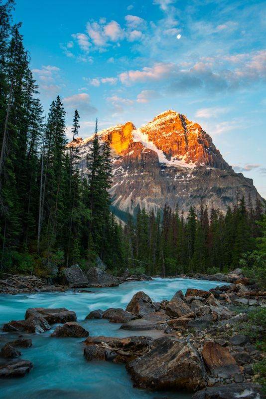 Photo Mount Stephen Sunrise from Kicking Horse River by Justin Berman on 500px British Colombia