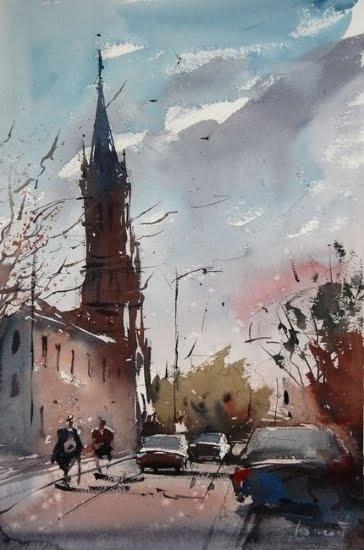 Eugen Chisnicean. Watercolour.