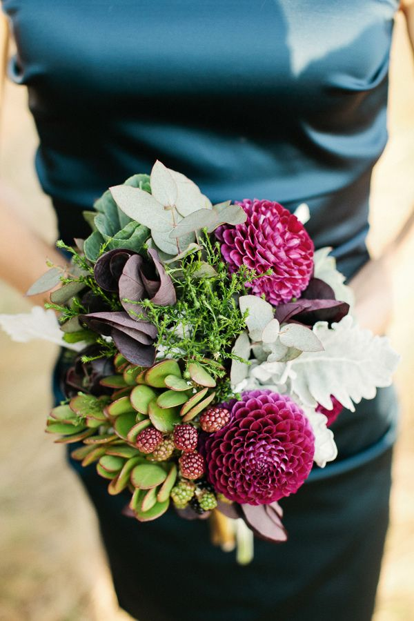 rustic bouquet // photo by Louisa Bailey // florals by The Flower Jar // styling by The Style Co. // View more: http://ruffledblog.com/melbourne-rustic-wedding/
