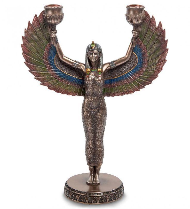 """Подсвечник """"Исида - богиня материнства и плодородия"""""""