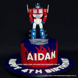 Jake's Cakes: Optimus Prime Transformers cake