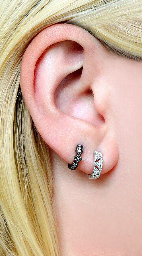Now Trending Huggie Earrings See How We Stack Ours Jewels Pinterest Jewelry And Earring Trends