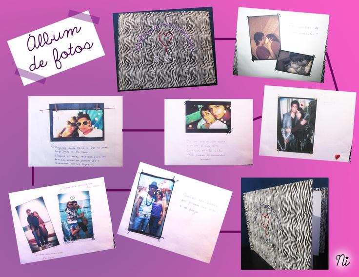 Lbum de fotos como regalo de aniversario mis - Manualidades album de fotos ...