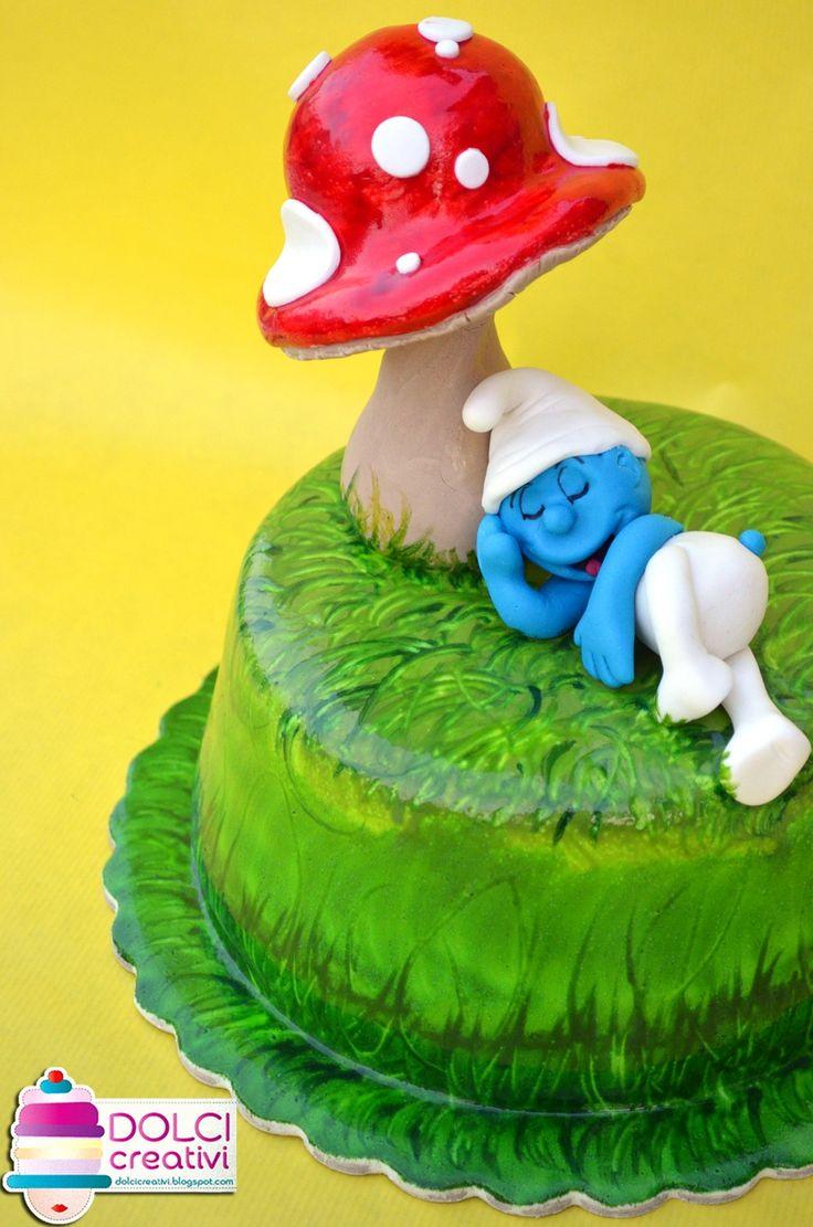 ! Dolci Creativi di Sarù - Torte decorate: Torta puffo dormiglione