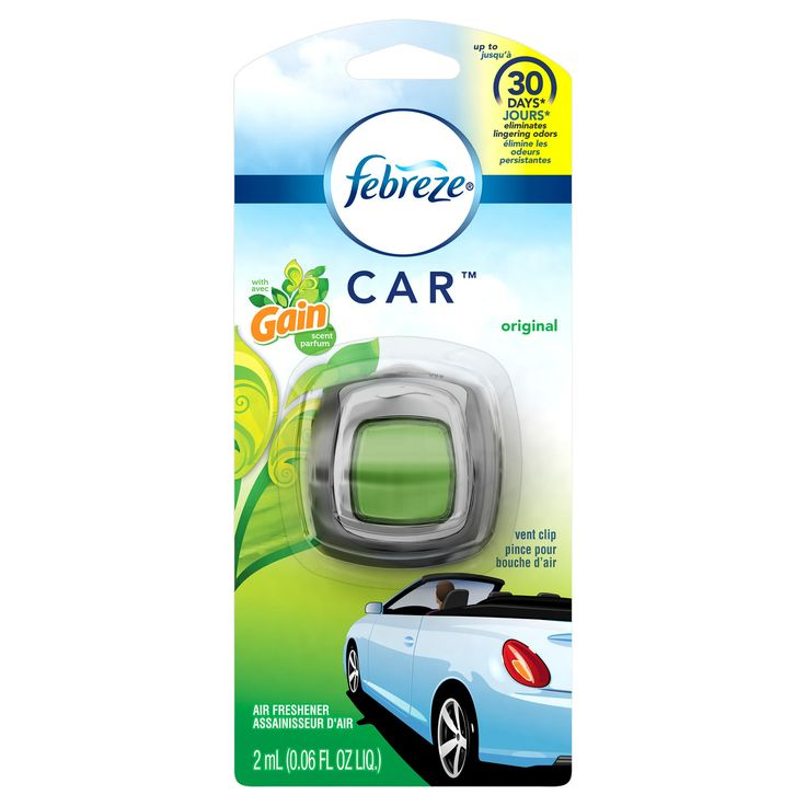 Febreze Car Gain Original Scent Air Freshener Vent Clip,