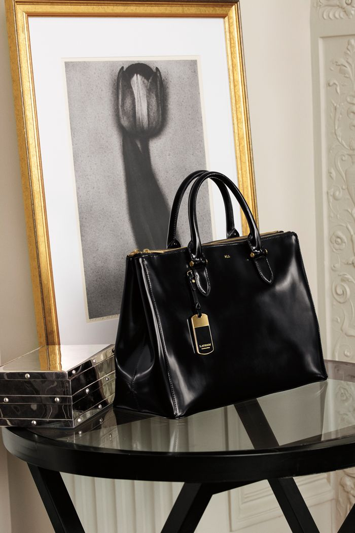 87599cea0769 Luxe leather accents from Lauren s fall collection