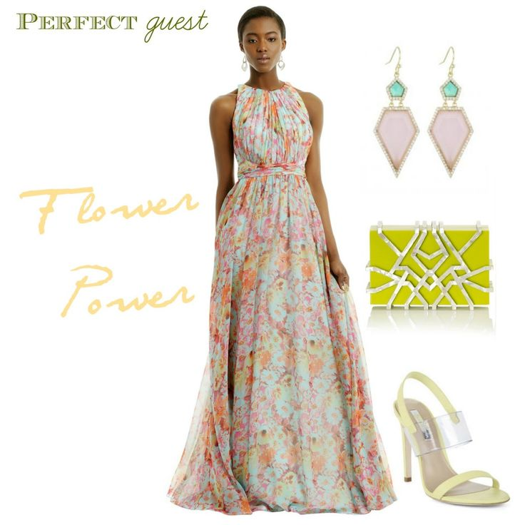 floral maxi dress wedding guest