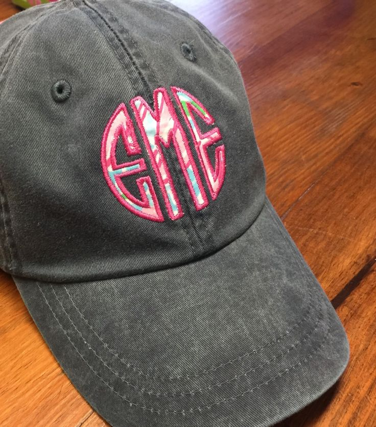 Pigment Washed Monogrammed Adams Hat with Leather Strap by  TantrumEmbroidery on Etsy 4d951583115f