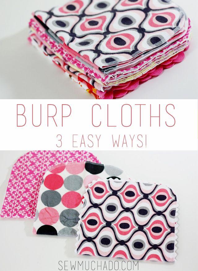 Easy DIY Burp Cloths