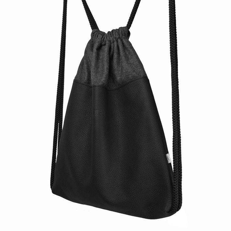 SKÓRZANY PLECAK 01 czarny (sprzedawca: purol design), do kupienia w DecoBazaar.com #plecak #backpack #leather #black