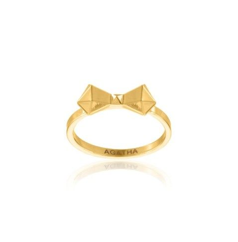 BOWTEK - Ring with faceted bow from the AGATHA Paris Electro Batik collection