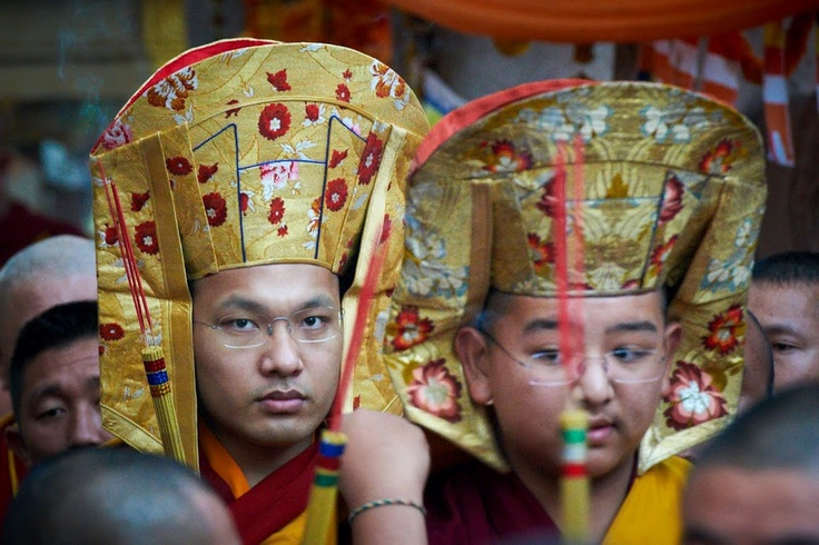 Karmapa and Kongtrul Rinpoche during the Kangyur Procession in 2012