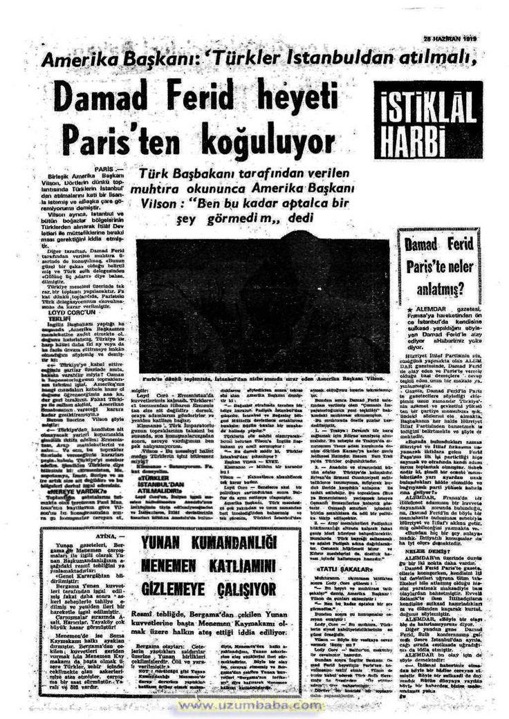 istiklal harbi gazetesi 28 haziran 1919