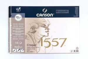 Canson 1557 Croquis Resim Ve Çizim Defteri 120 gr. 35x50 cm. 15 Sayfa
