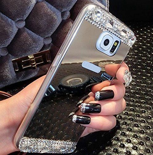 Luxury Mirror Phone Case For Samsung Galaxy S7 /S7 Edge / iPhone 6S / iPhone 6S Plus Bling Diamond Crystal
