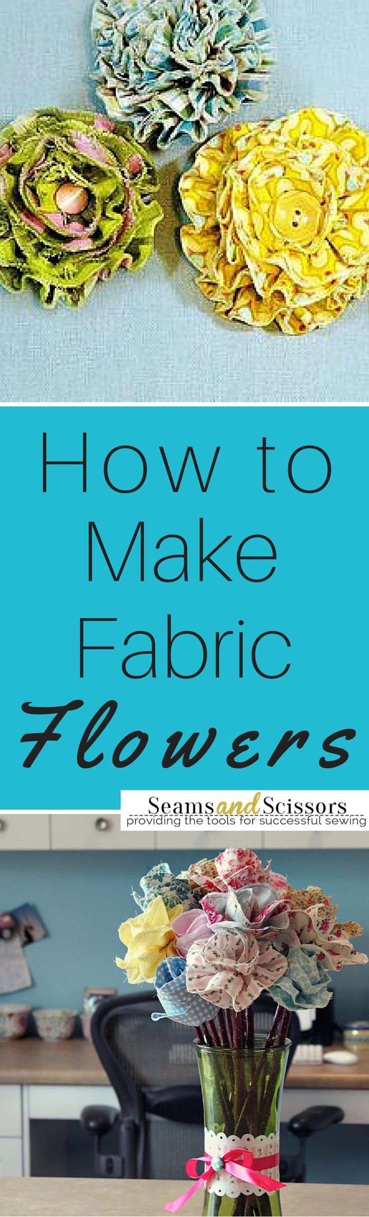 Learn how to make fabric flowers out of scraps, zippers, and more!