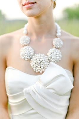 A Lowcountry Wedding - Charleston, Myrtle Beach & Hilton Head's Favorite Wedding Resource: Statement Necklaces {Wedding Details}