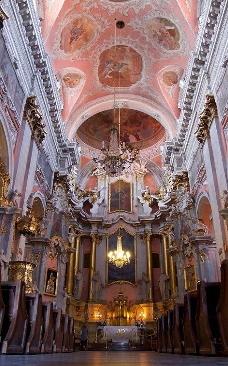 Church of St. Teresa Interior - Vilnius, Lithuania