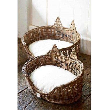 Rustic Rattan Cat Basket S/2 - Dierenartikelen | Rivièra Maison