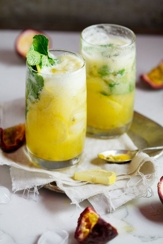Fresh pineapple and passion fruit mojito #recipe #cocktail #Summer