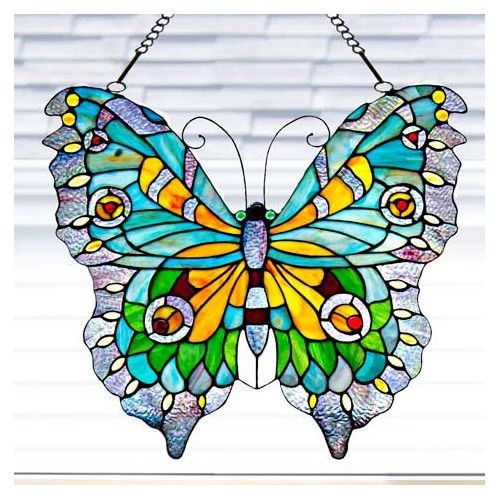 Found it at Wayfair.ca - Stained Glass Swallowtail Butterfly Window Panel