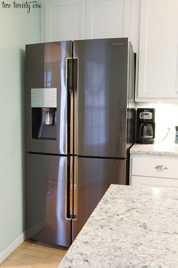 Attractive Samsung 23 Cu. Ft. Capacity Counter Depth 4 Door FLEX Refrigerator. Black