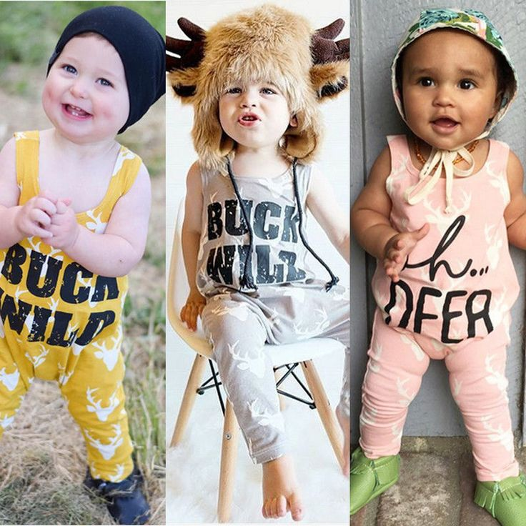 3 Colors Newborn Infant Baby Boys Girl Rompers Deer Clothes Outfits Cotton Romper Jumpsuit Clothing New