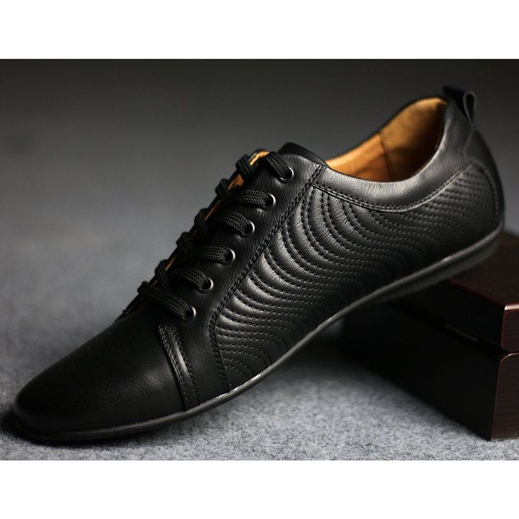 Z1 Black Breathable Leather Shoes