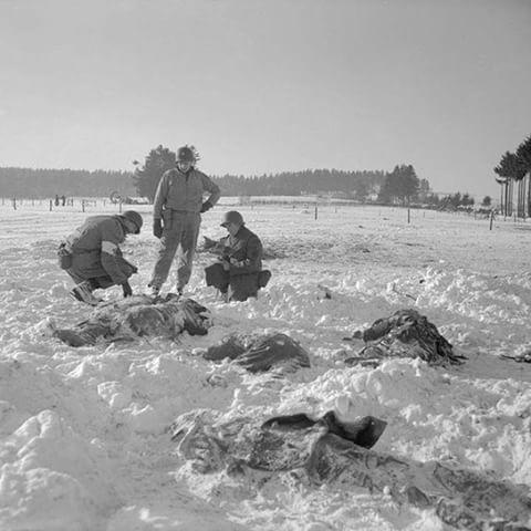 the Battle of the Bulge --  the Malmedy Massacre.