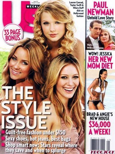 Hilary Duff, Lauren Conrad and Taylor Swift