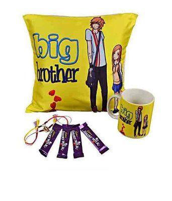 Mesleep Big Brother Rakhi Gift Cushion Covers on Shimply.com
