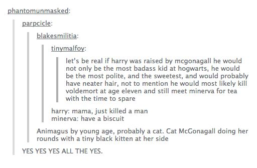 YASSSSS<<<THIS GOT BETTER!<<aww expect harry would be a stag right? With his patronus?