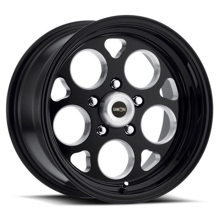 "15"" Vision 561 Sport Mag Gloss Black Wheel 15x7 5x4.75 0mm"