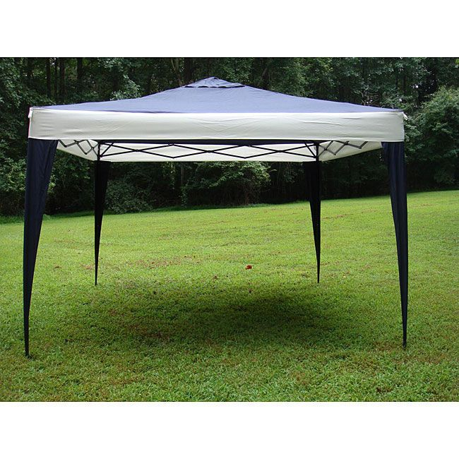 10x10 Canopy Tent Steel Frame Umbrella Beach Patio Furniture Dining Cover Campin #Caravan