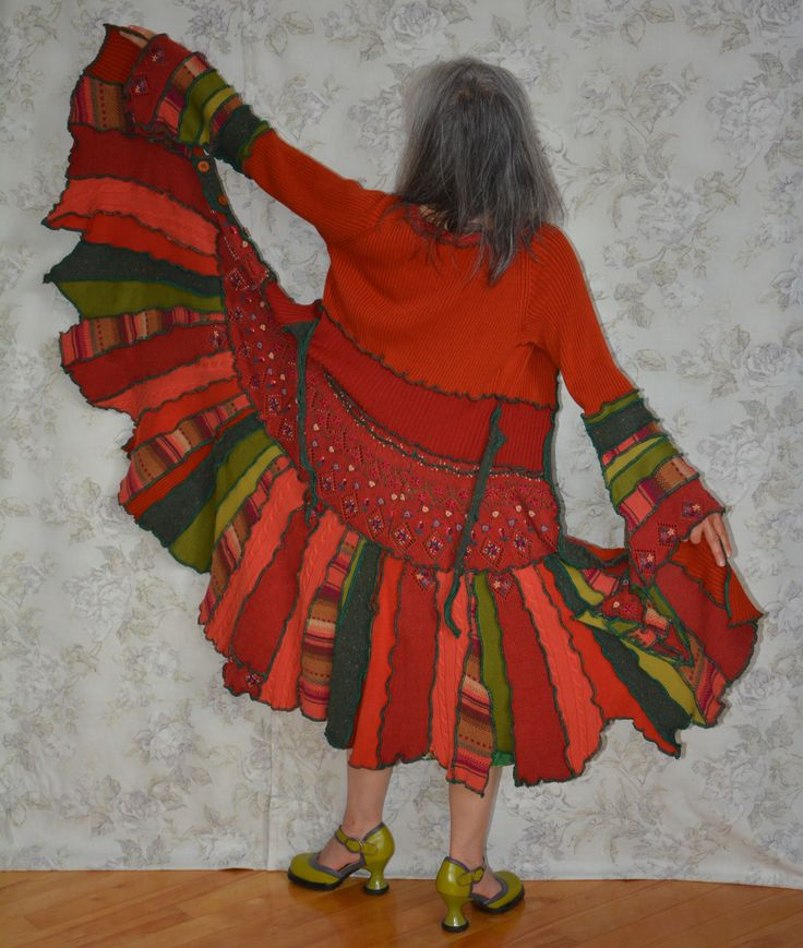 Paprika is a Summer coat with vibrant oranges and greens to spice up your wardrobe.Details in my Etsy Shop