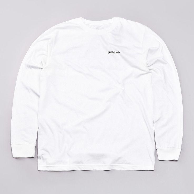 Flatspot - Patagonia P-6 Logo L/S T-Shirt White