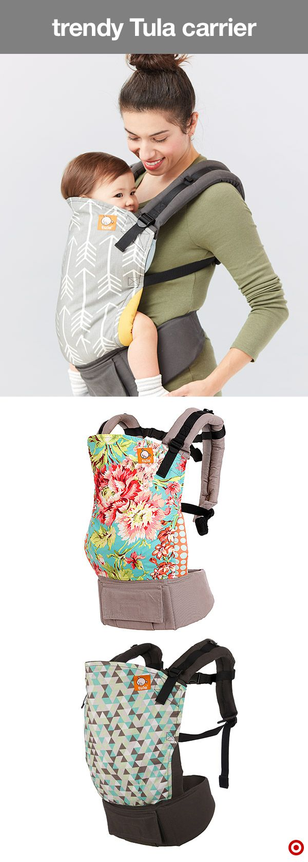 Are you part of the club—the Tula Mom's club? Get yourself a Tula Baby carrier and you're in. What's so great about a Tula? Everything! These ergonomic baby carriers are easy to use and allow for babywearing from infant to toddler. They come in cool, on-trend prints and colors, have a removable hood, durable buckles, adjustable straps, large front pocket, supportive padding and more. This baby carrier is the perfect addition to your Target Baby Registry.