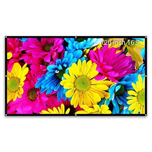 """Projector Screen 120 inch 16:9 Indoor & Outdoor Screen,1.2 Gain Diy Screen for Projector ,Movie ,Home Theater, Classroom , Office ,Camp , Roll Easily ,PVC Fabric By Cheerlux. Screen Area : 104"""" x 58"""" - Diagonal estimation :120inch ,16:9 organization and ship in a cardboard tube 6' long and 3"""" in measurement. Best Offer"""