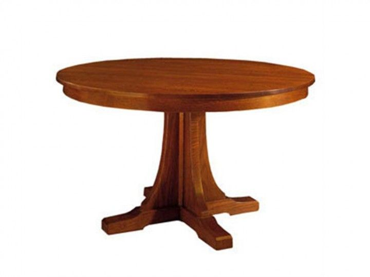 Classic Stickley Dining Room Wood Round Pedestal Dining Table Design  Inspirations Decor Home Interior Ideas