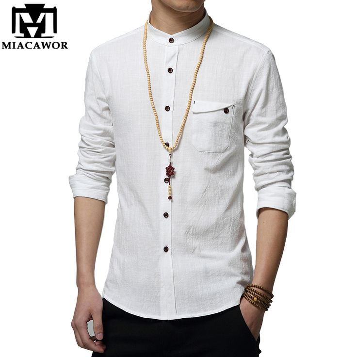 Find More Casual Shirts Information about 5XL Cotton Linen Men Shirt New 2016…