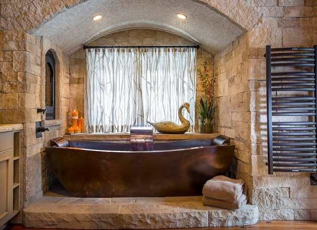 20 Truly Amazing Stone Bathrooms To Enter Rustic Charm In The Home. 1000  ideas about Stone Bathroom on Pinterest   Master bathroom
