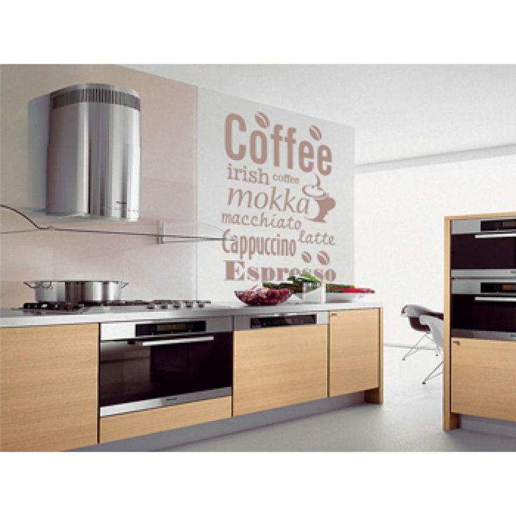 Vinilo de pares con el motivo de café puede decorar no sólo una cocina, sino también una cafetería acogedora :)  #vinilo #vinilopared #cafe #decoracionparacocina #paracocina #paracafeteria #artgeist
