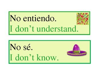 Free posters for commonly used Spanish classroom expressions. With color and fun images.