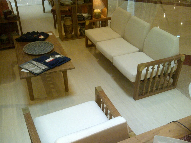 Classic modern Javanese sofa set + coffee table
