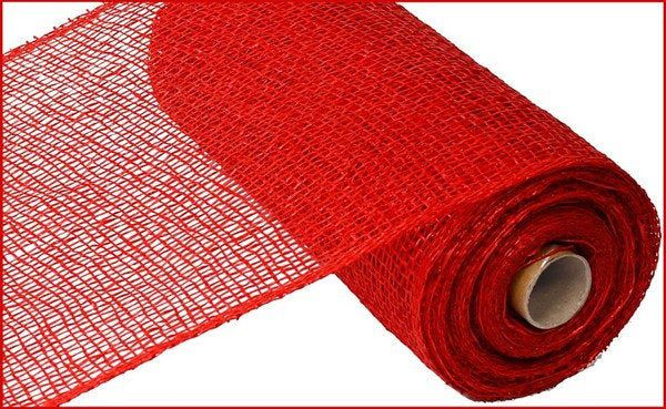 Red Poly Burlap Poly Burlap 10 Inch Red Poly Burlap Mesh Deco Mesh Supplies Poly Burlap Wreath Supplies Poly Burlap Red Wreath Supplies Deco Mesh Burlap
