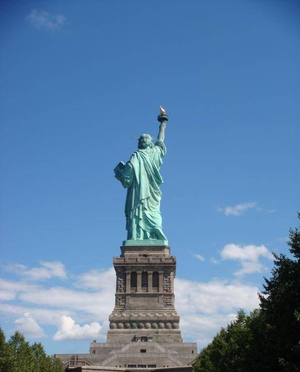 Back View of the Statue of Liberty